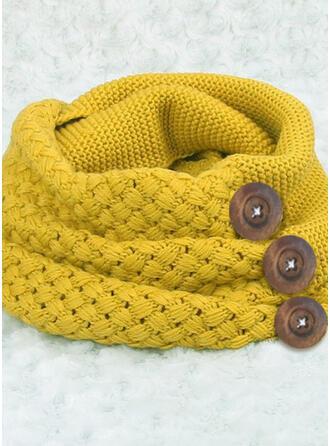 Effen kleur/haak Nek/mode/eenvoudig Sjaal