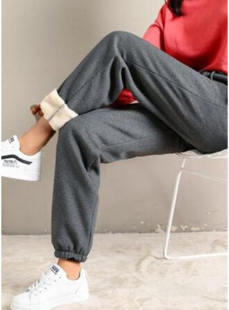 Solide Shirred Casual sportieve Lounge broek