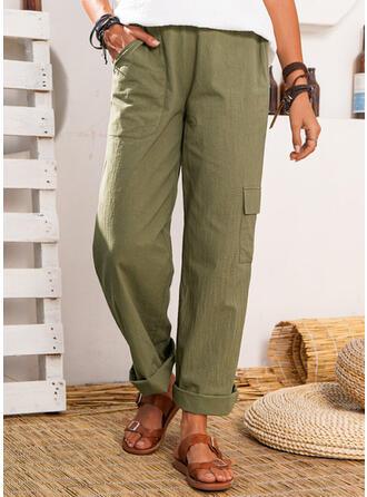 Zakken Grote maat Casual Solide Lounge broek
