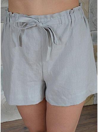 Grote maat Trekkoord Casual Gewoon Shorts