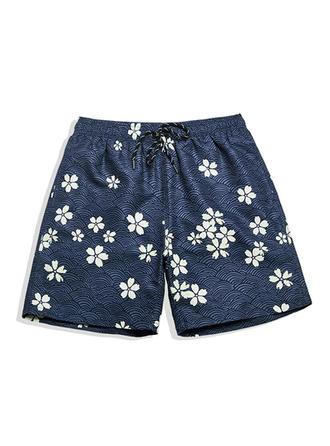 Heren Bloemen bekleed Board Shorts
