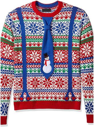Uniseks Polyester Print Lelijke kerstsweater