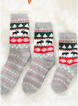 Rendier van Kerstmis Comfortabel/Kerstmis/Crew sokken/Voor Gezinnen/Unisex Sokken