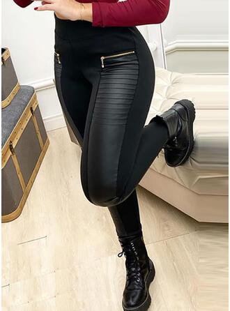 Solide Lapwerk Sexy Leer Wijnoogst Broeken Leggings