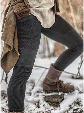 Lapwerk Shirred Grote maat Sexy Wijnoogst Leggings