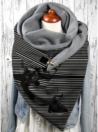 Gestreept/Dier aantrekkelijk/mode/Zwarte kat Sjaal