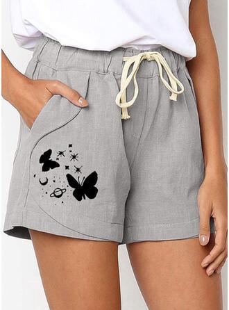 Print Grote maat Casual Print Shorts