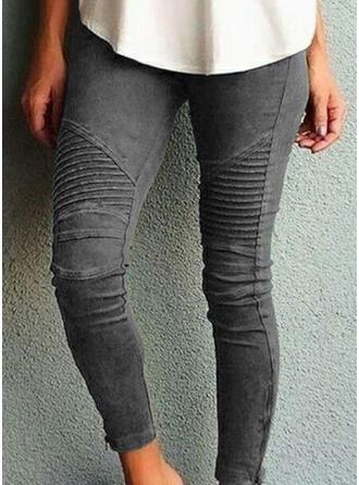 Streep Shirred Grote maat Lang Broodmager Yoga Gewoon Leggings