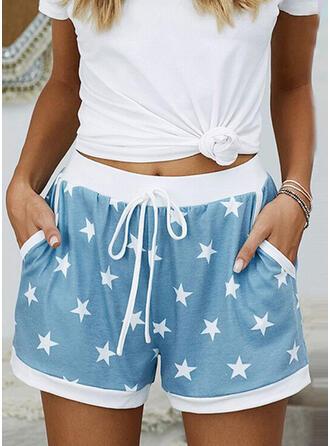 Geometrisch Zakken Casual Print Shorts