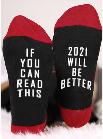 Letter/Print Comfortabel/Crew sokken/2020/Unisex Sokken