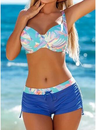 Hoge Taille Splice kleur Riem Sexy Sport Bikini's Badpakken