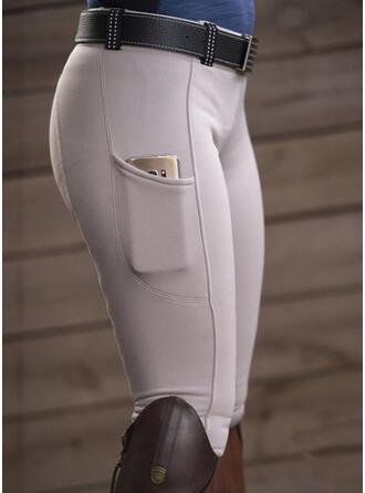 Solide Zakken Sexy Gewoon Broeken Leggings