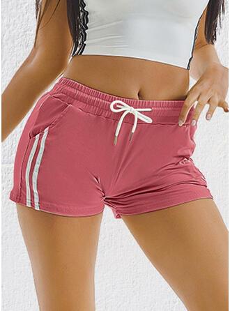 Solide Trekkoord Casual sportieve Shorts