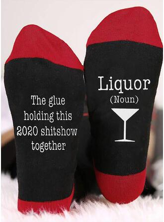 Letter/Print Ademend/Comfortabel/Kerstmis/Crew sokken Sokken