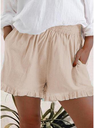 Zakken Grote maat Casual Gewoon Shorts