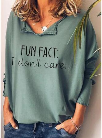 Print Figuur V-hals Lange Mouwen Casual Overhemd