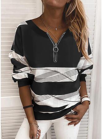 Print V-hals Lange Mouwen Sweatshirts